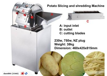 Potato Slicer Chipper Shredding Slicing Machine