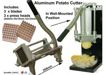 Potato chipper fish n chips Veg cutter 3 blades