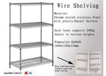 Shelves Storage Display Wire Shelf Garage Rack WIRE Series