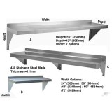 Wall Mount Shelf Stainless Steel Shelf