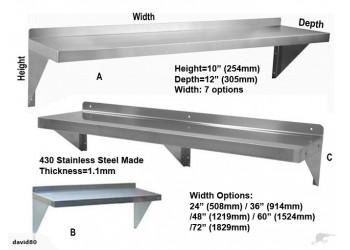 Wall Mount Shelf Stainless Steel Shelf
