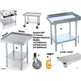 Benches Table Side Splash Bench Equipment Stand s/s WorkBench