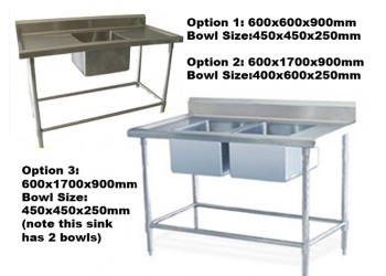 Bench Sink Stainless Steel WorkBench Sink Work Bench